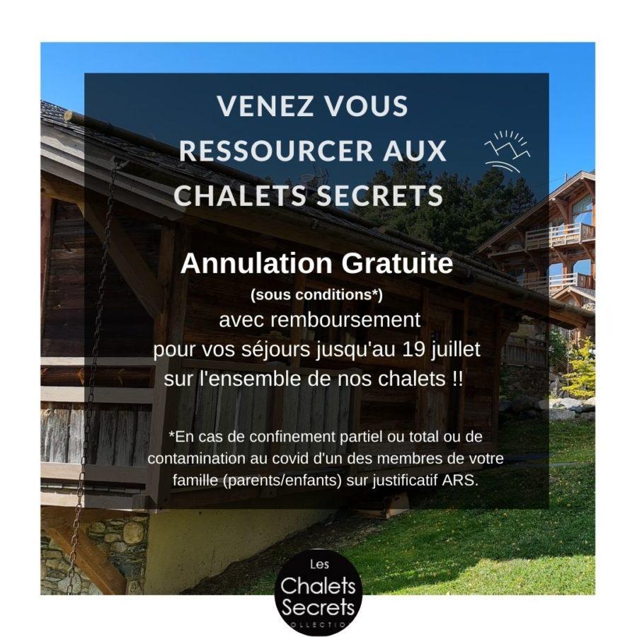 Chalets secrets annulation gratuite